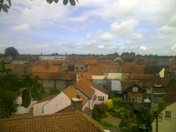 A view over Holt, Norfolk from the Horse Chestnut tree